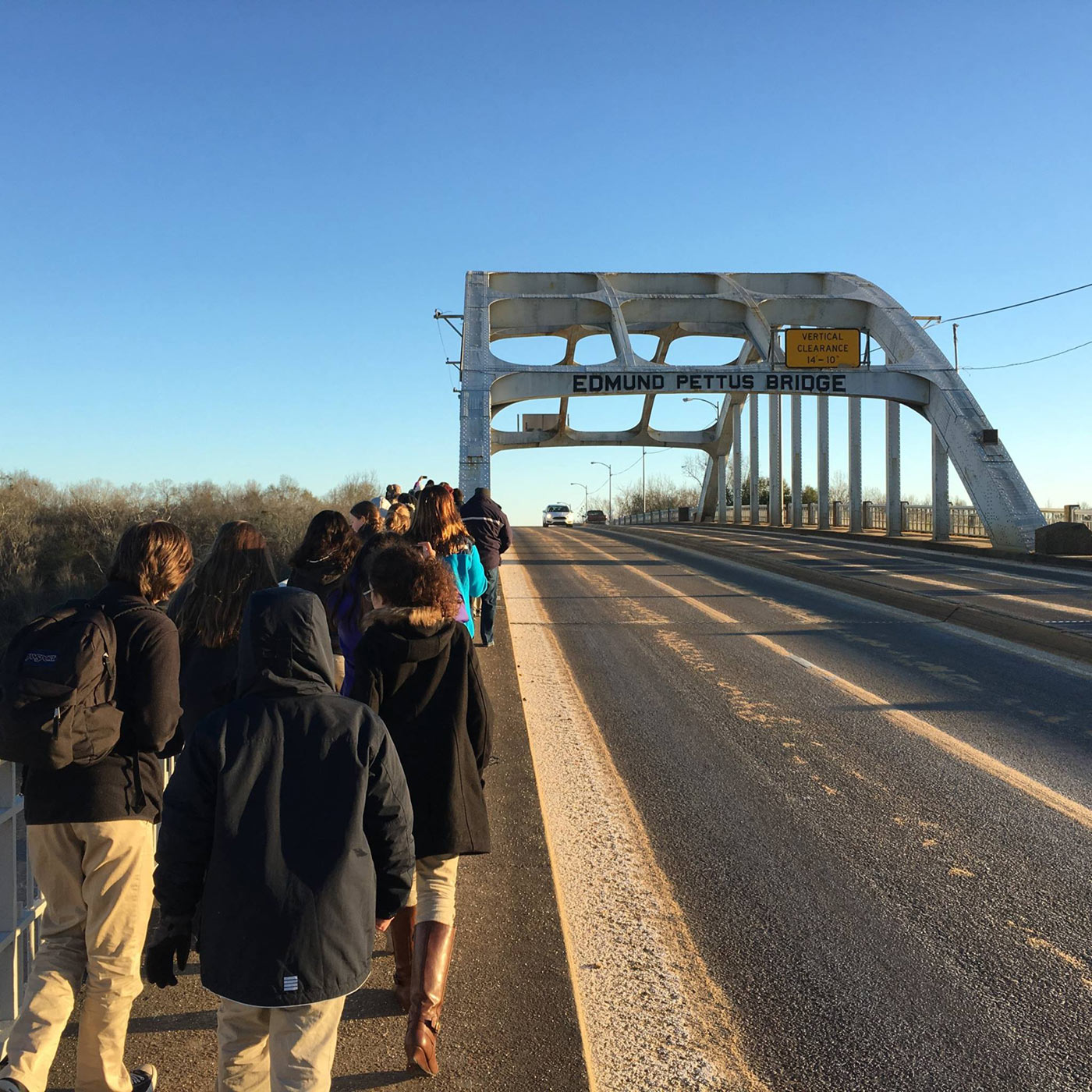 MS Students Walk Pettus Bridge, Selma