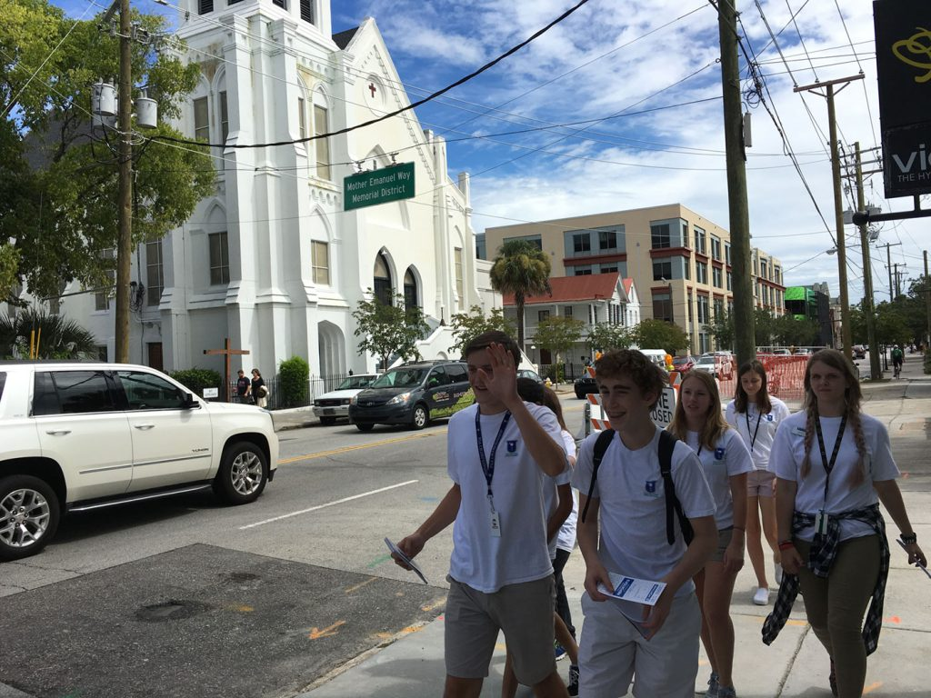 US Students Near Mother Emanuel