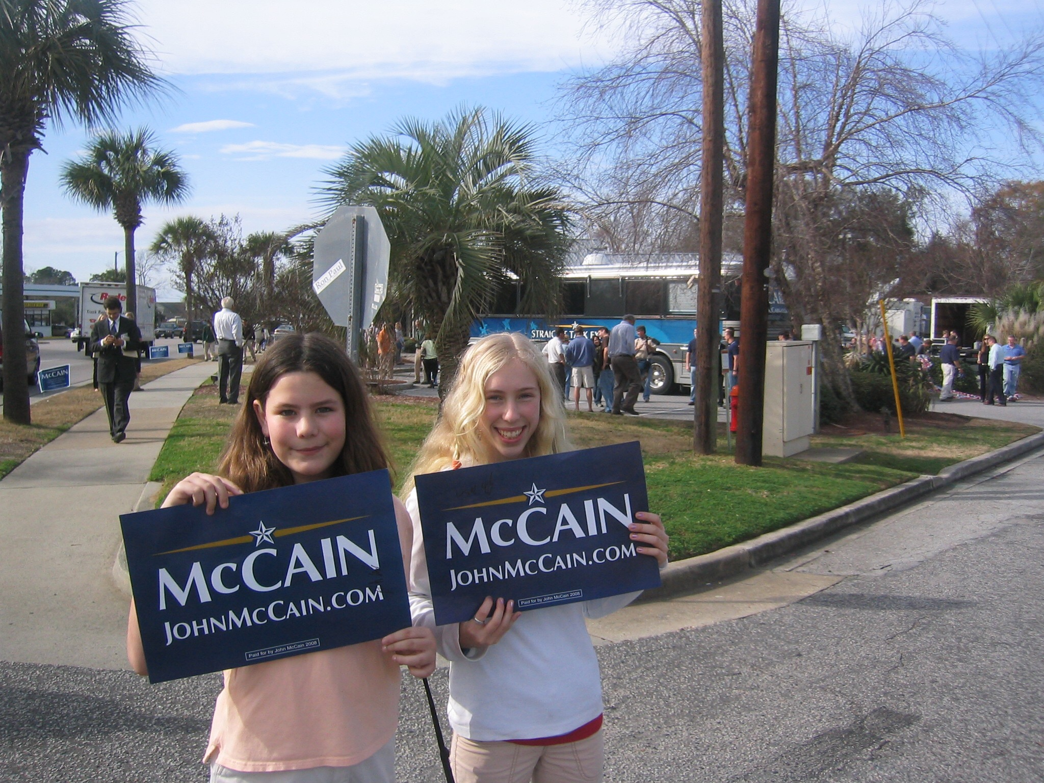 McCain Rally posters