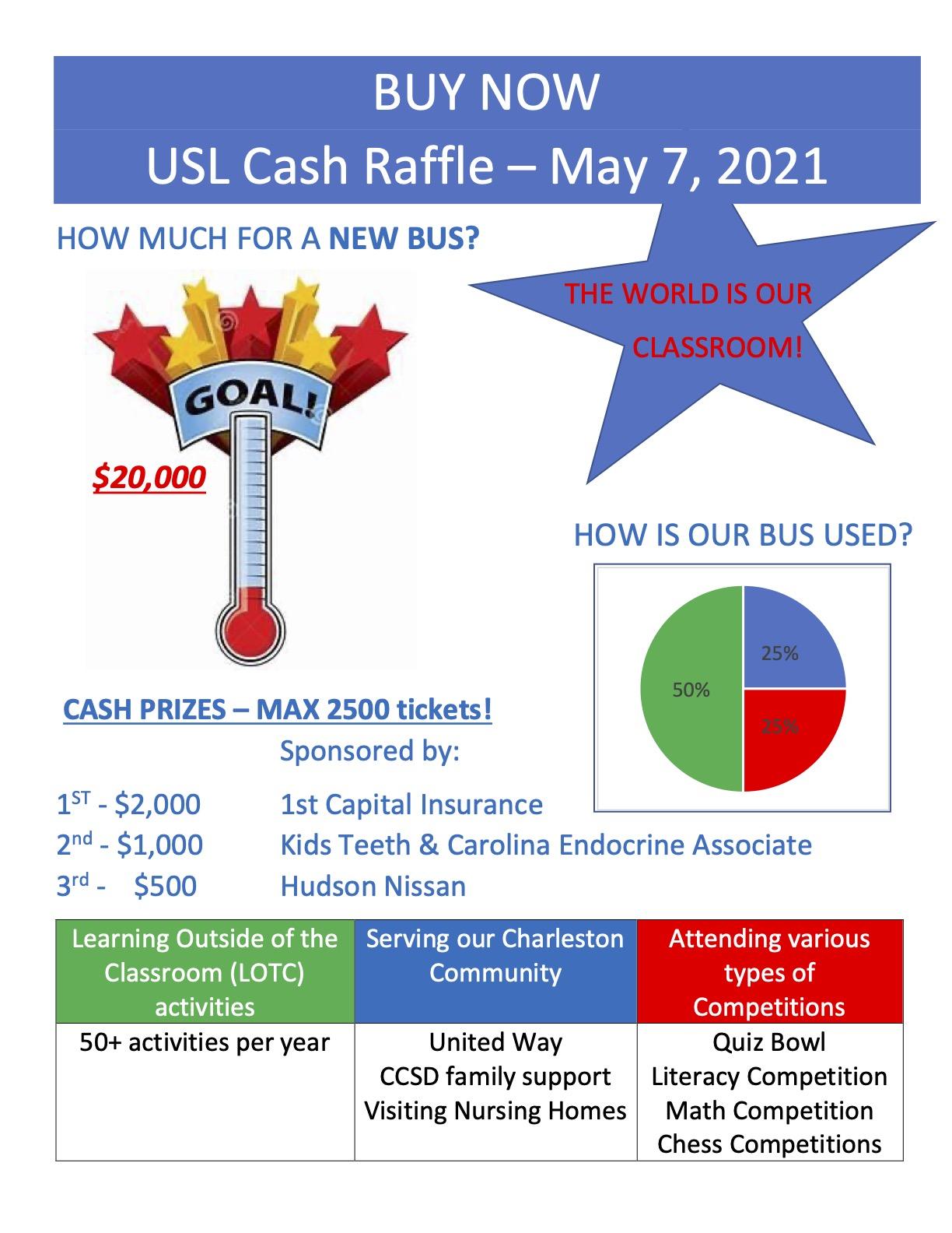 USL Cash Raffle Fundraising ART